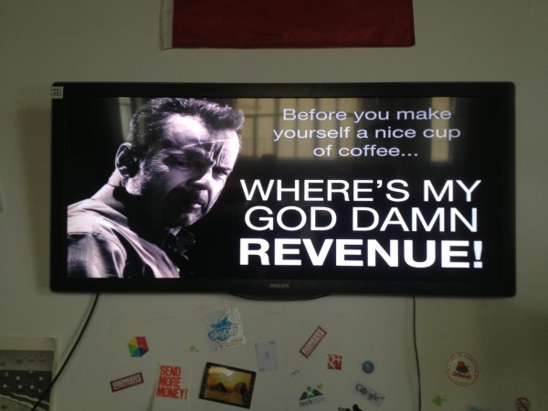 Node5 flat screen motivation poster